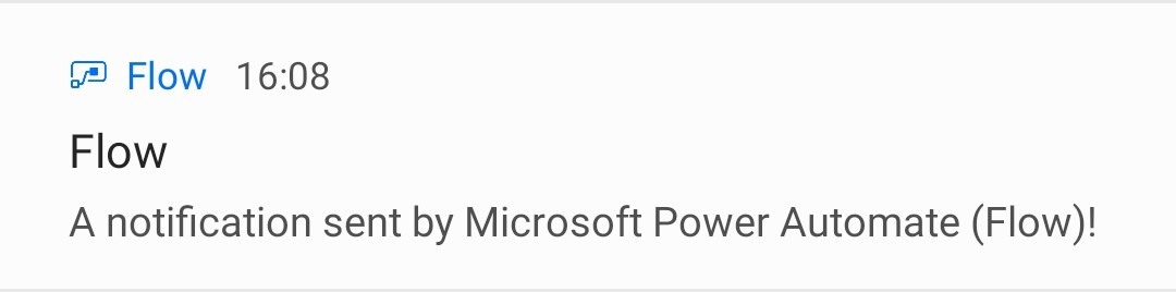 Microsoft Power Automate Flow Example Notification
